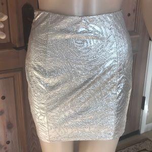 Guess metallic foil mini skirt!